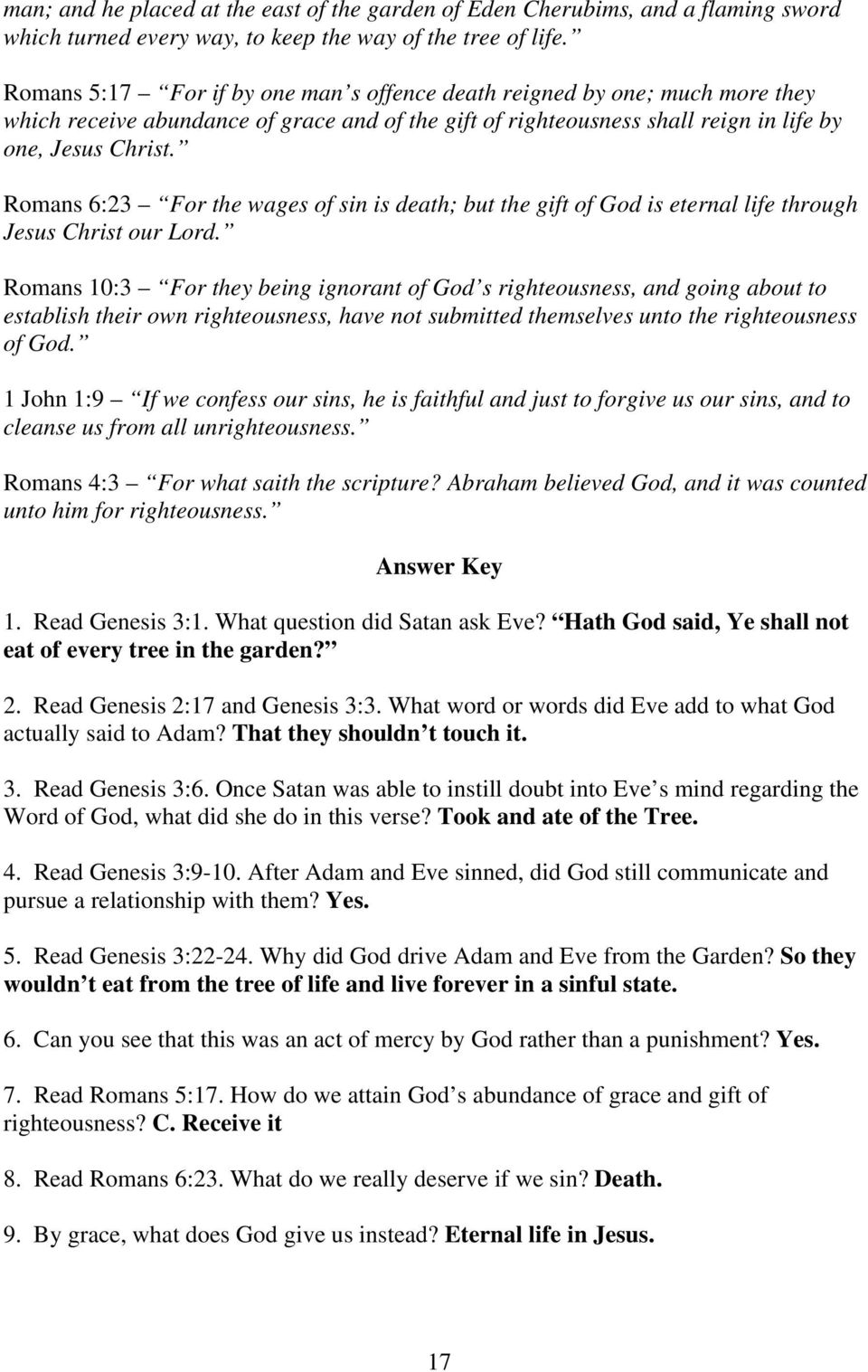 Level 1 Lesson 4  RELATIONSHIP WITH GOD By Andrew Wommack - PDF