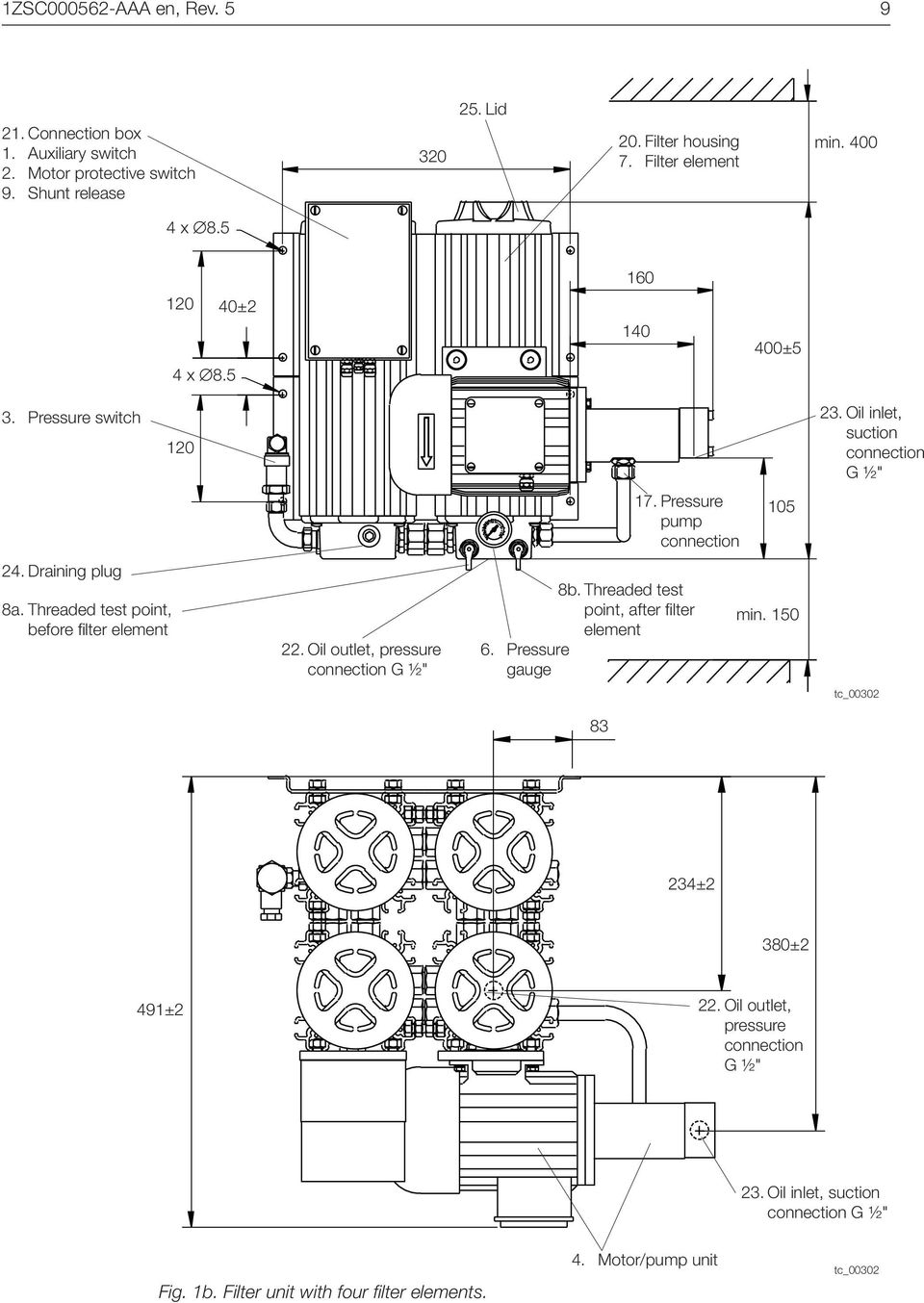 oil filter unit for on-load tap-changers manual
