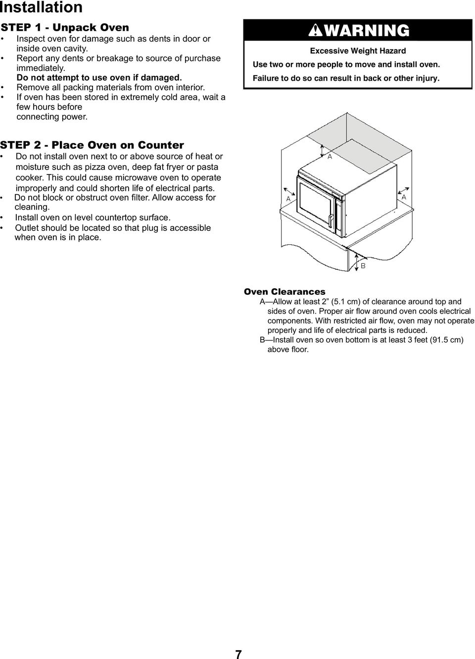 Service / Training Manual Commercial Microwave Oven - PDF