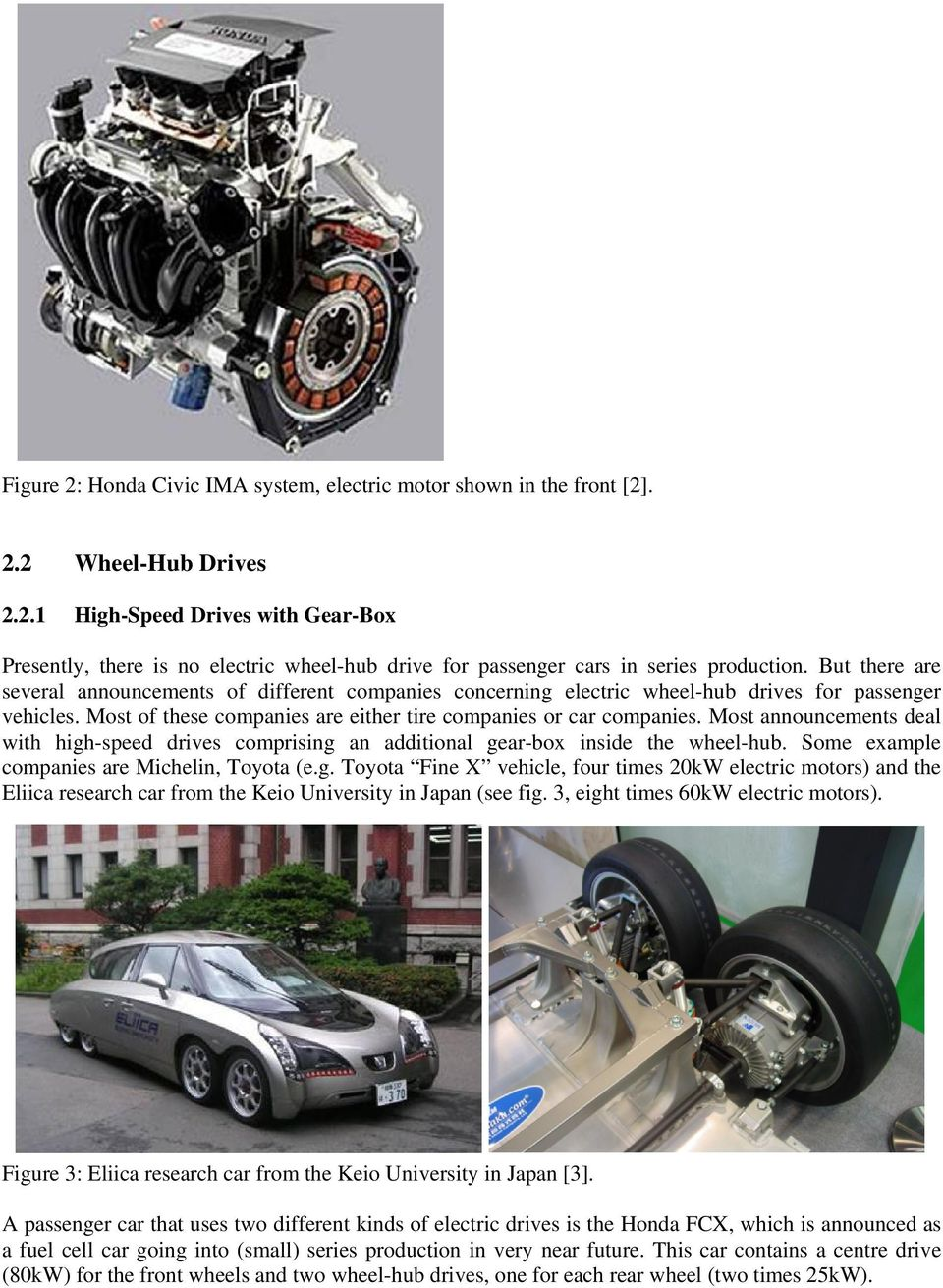 ELECTRIC TRACTION FOR AUTOMOBILES COMPARISON OF DIFFERENT