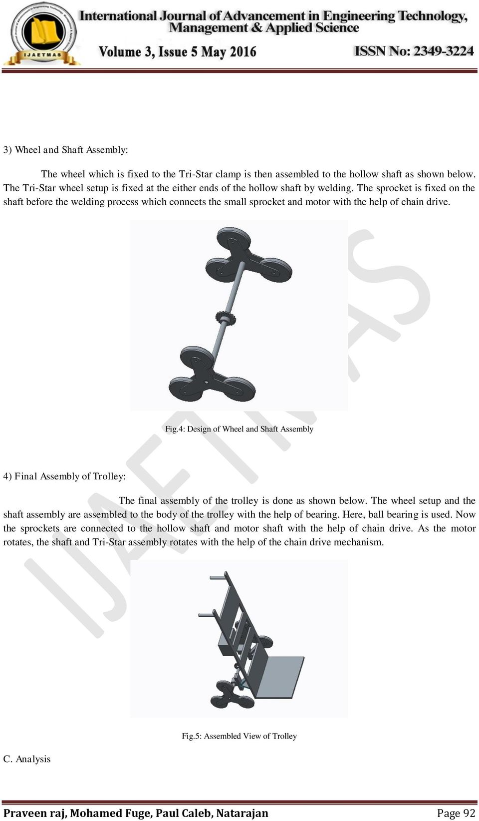 Design and Fabrication of Stair Climbing Trolley - PDF