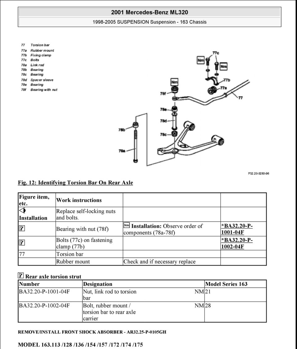2001 Mercedes Benz Ml320 Pdf 01 Fuel Filter Location Necessary Replace Ba3220 P 1001 04f
