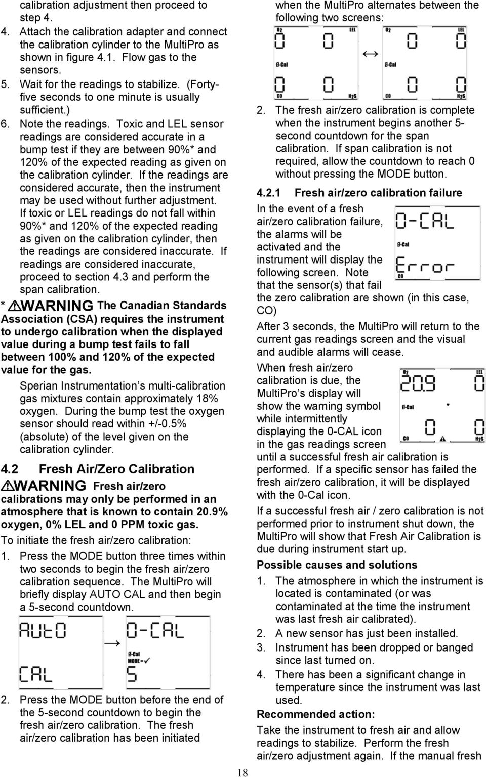 Reference Manual  MultiPro Gas Detector - PDF