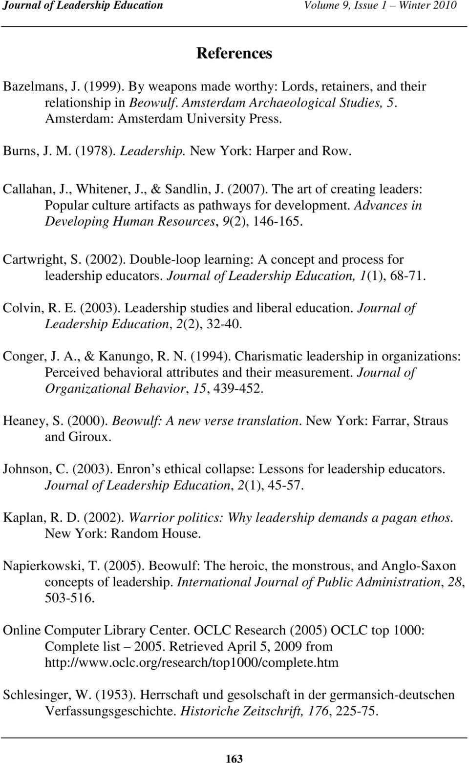 Beowulf and the Teaching of Leadership - PDF