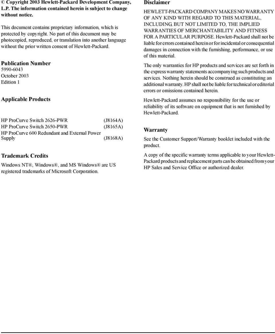 Hp Procurve Switch 2600 Series Poe Planning And Implementation Guide Poweroverethernet On Industrialbased Networking Fig 2 No Part Of This Document May Be Photocopied Reproduced Or Translation Into Another Language