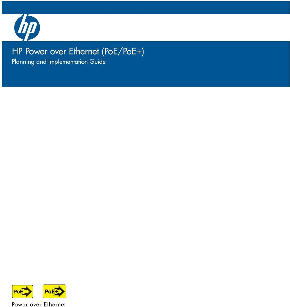 Hp Power Over Ethernet Poe Pdf Poweroverethernet On Industrialbased Networking Fig 2 Transcription