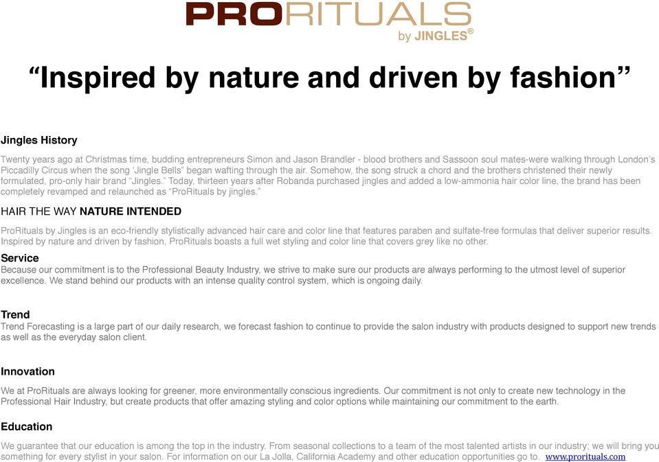 Inspired by nature and driven by fashion - PDF