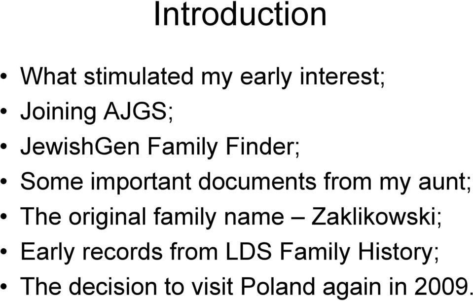 A Journey to Poland  Looking for my father s Jewish