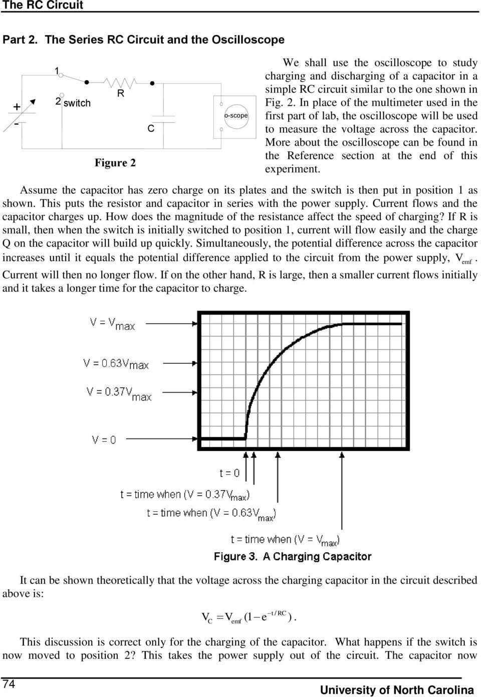 The Rc Circuit Pre Lab Questions Introduction Pdf How To Simulate An In Ltspice With Initial Condition Place Of Multimeter Used First Part