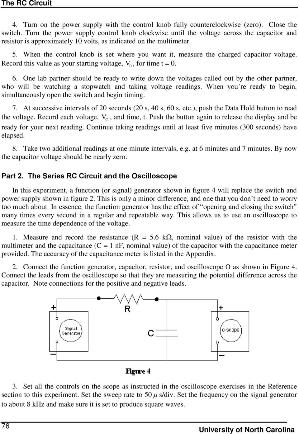 The Rc Circuit Pre Lab Questions Introduction Pdf As Shown In Fig This Can Be A Voltage Signal When Control Knob Is Set Where You Want It Measure Charged Capacitor