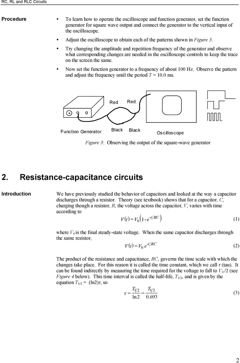 Rc Rl And Rlc Circuits Pdf Figure 3 Parallel Circuit Try Changing He Ampliude Repeiion Frequency Of Generaor Observe Wha Corresponding Changes Are