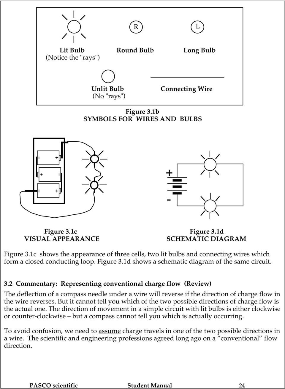 Section 3 Schematic Diagrams With Bulb Lighting And Charge Flow 31 Figure Circuit 1d Shows A Diagram Of The Same