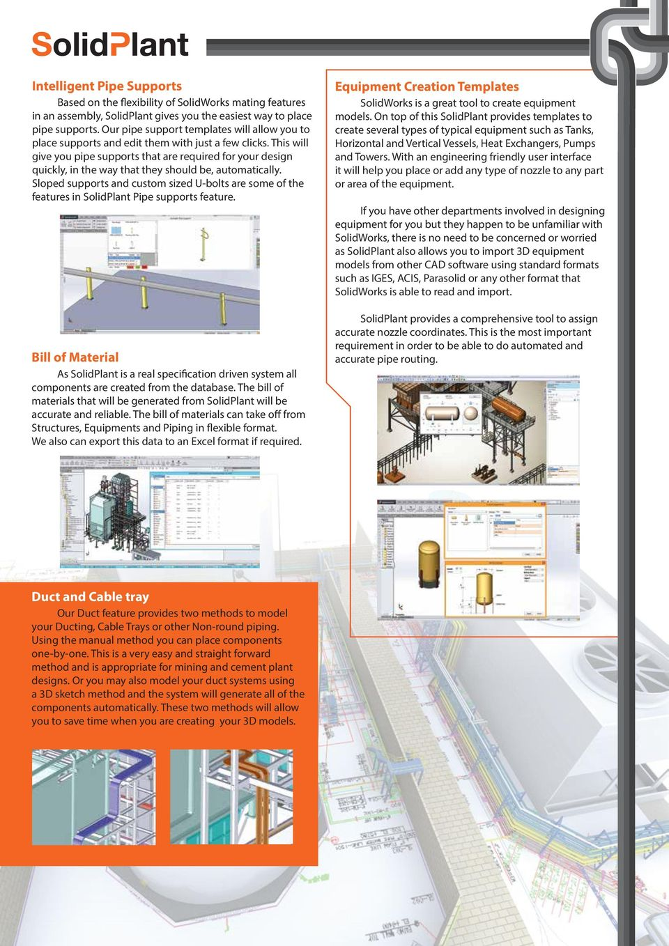 Comprehensive Plant Design For Solidworks Route It Your Way Pdf Piping Diagram This Will Give You Pipe Supports That Are Required Quickly In The