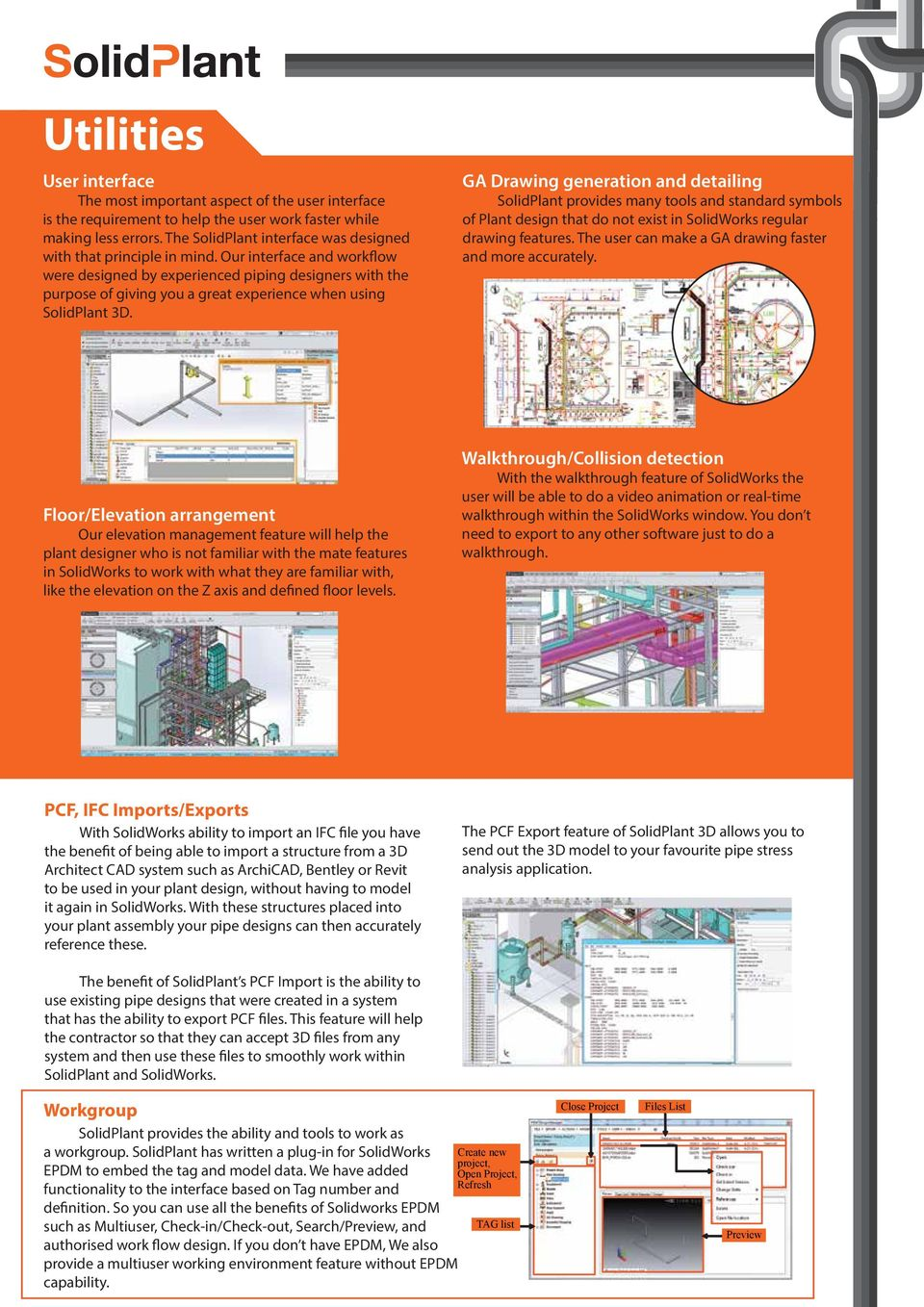 Comprehensive Plant Design For Solidworks Route It Your Way Pdf Piping Layout Ppt Our Interface And Workflow Were Designed By Experienced Designers With The Purpose Of Giving You