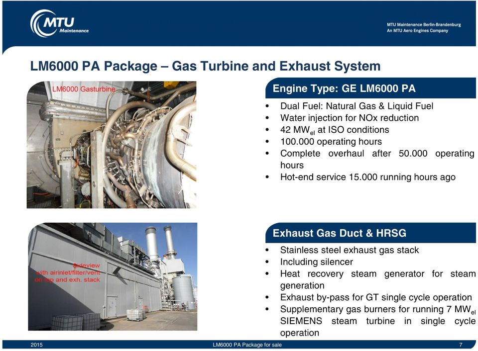 GE LM6000 PA Package for Sale  Business Unit Industrial Gas