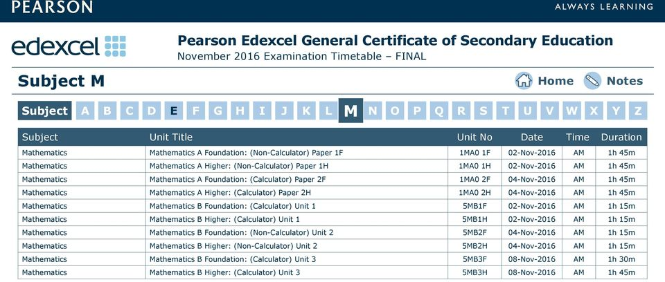 Pearson Edexcel General Certificate of Secondary Education - PDF