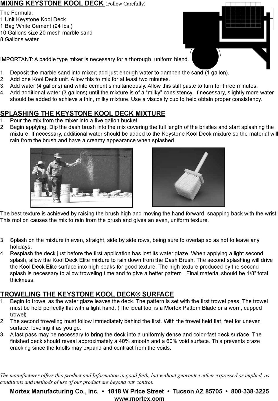 Application Instructions For Keystone Kool Deck On Existing Concrete