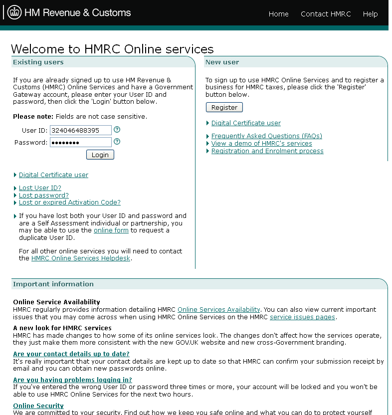 HMRC Online Services: how to upload a completed Union VAT