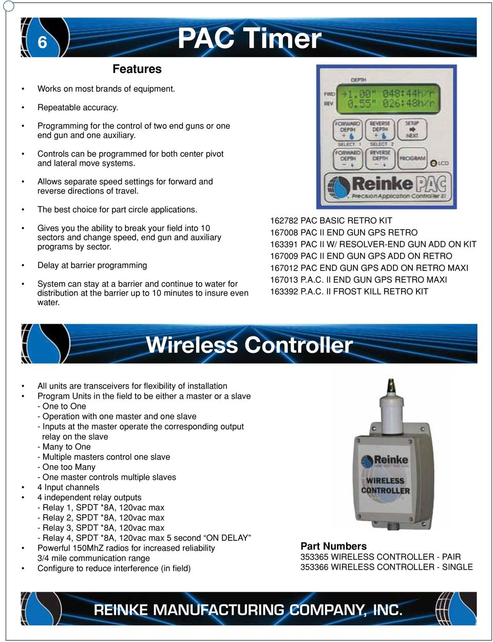 Parts Catalog Insist On The Best Genuine Reinke Repair From Valley Center Pivot Wiring Diagram Gives You Ability To Break Your Field Into 10 Sectors And Change Speed End