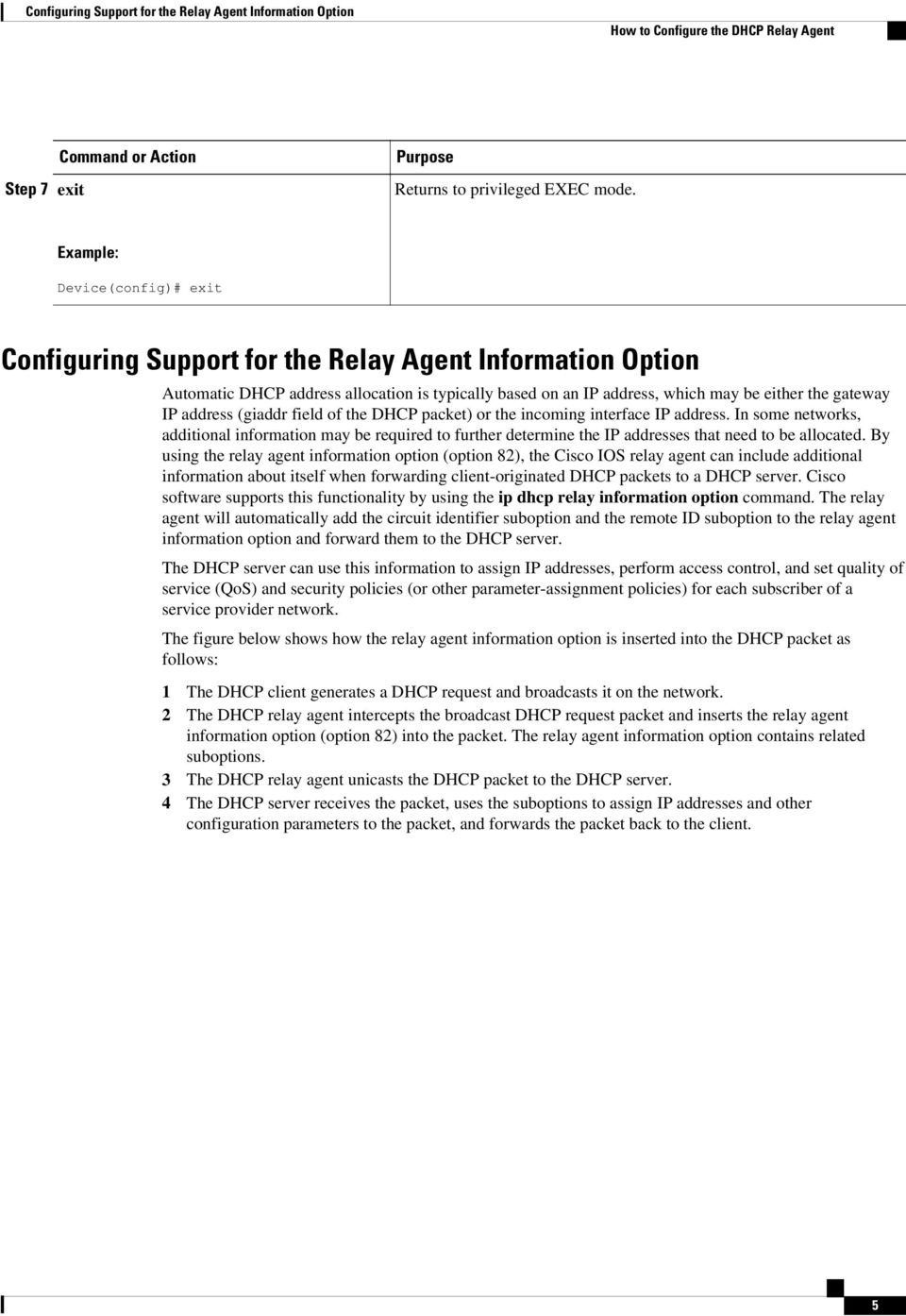 Configuring the Cisco IOS DHCP Relay Agent - PDF
