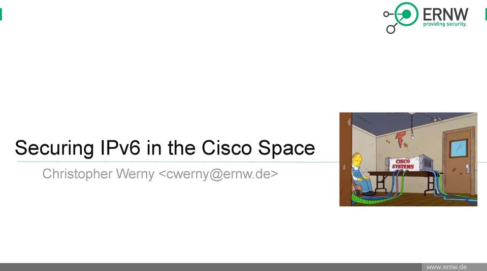 Securing IPv6 in the Cisco Space - PDF
