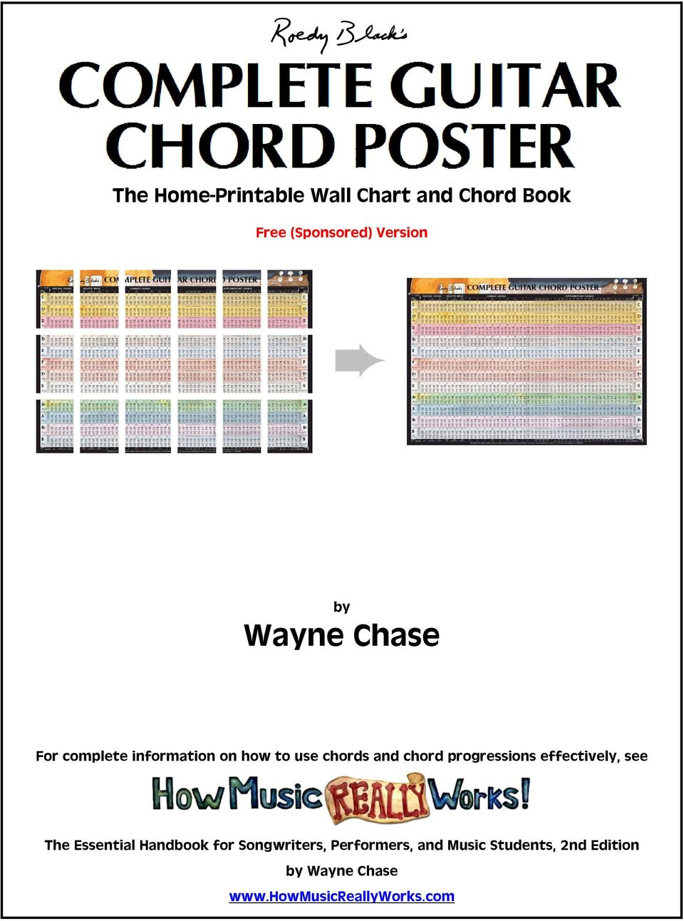 The Home Printable Wall Chart And Chord Book Pdf