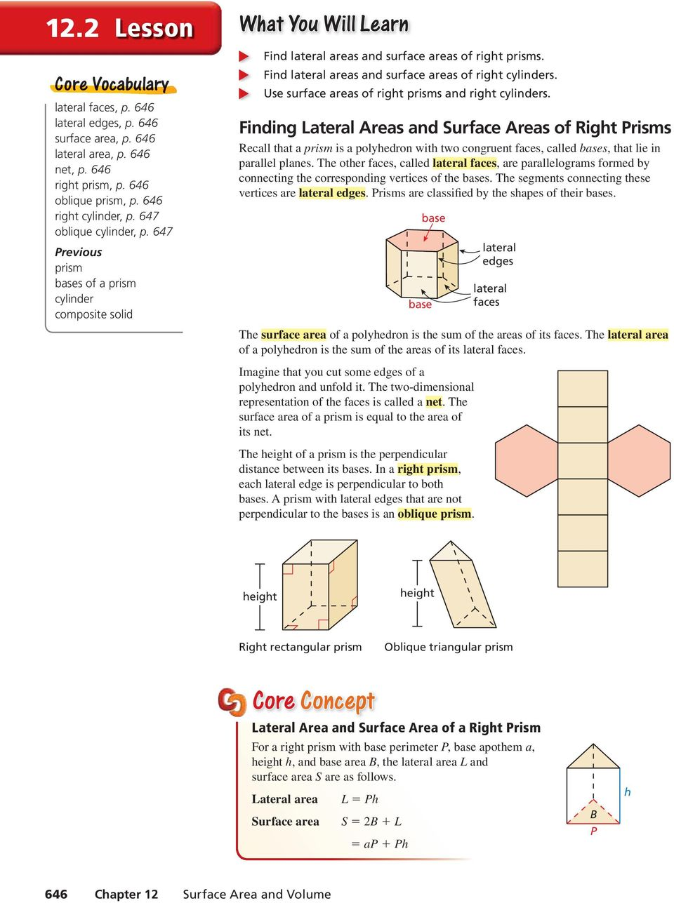 Surface Area Of Prisms And Cylinders Worksheet : Surface ...