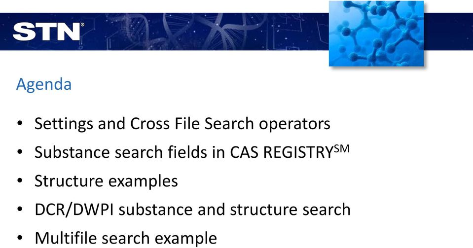 Substance and Chemical Structure Searching in CAS REGISTRY