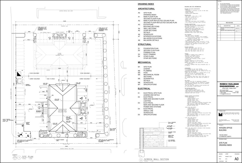 DRAWING INDEX ARCHITECTURAL STRUCTURAL MECHANICAL ELECTRICAL