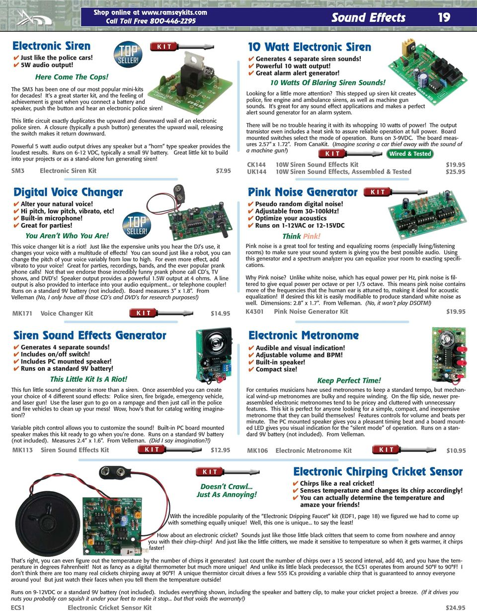 We Put The Fun In Electronics Pdf Circuit Simulation Of A Simple Adjustable Siren Pitch Modulation It S Great Starter Kit And Feeling Achievement Is When You Connect