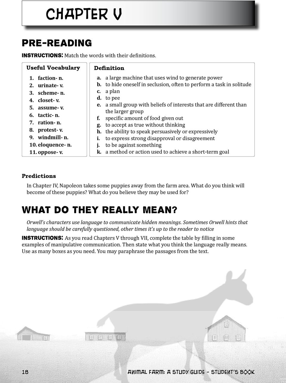 George Orwell S Animal Farm A Study Guide Student S Book Pdf