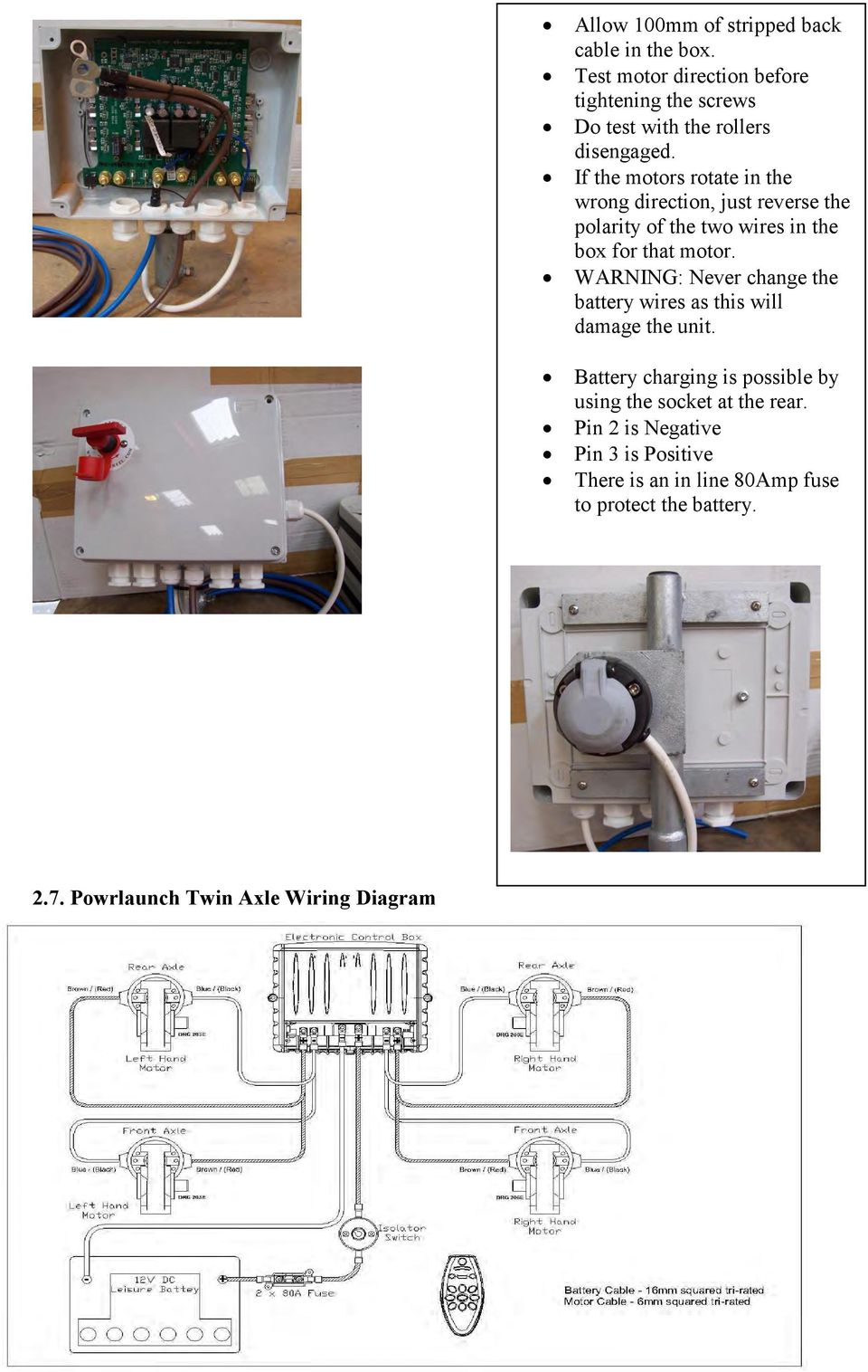 Powrwheel Limited Manufacturers Of The Uk S Only Remote Controlled Charging 12v Dc Wiring Diagram If Motors Rotate In Wrong Direction Just Reverse Polarity Two