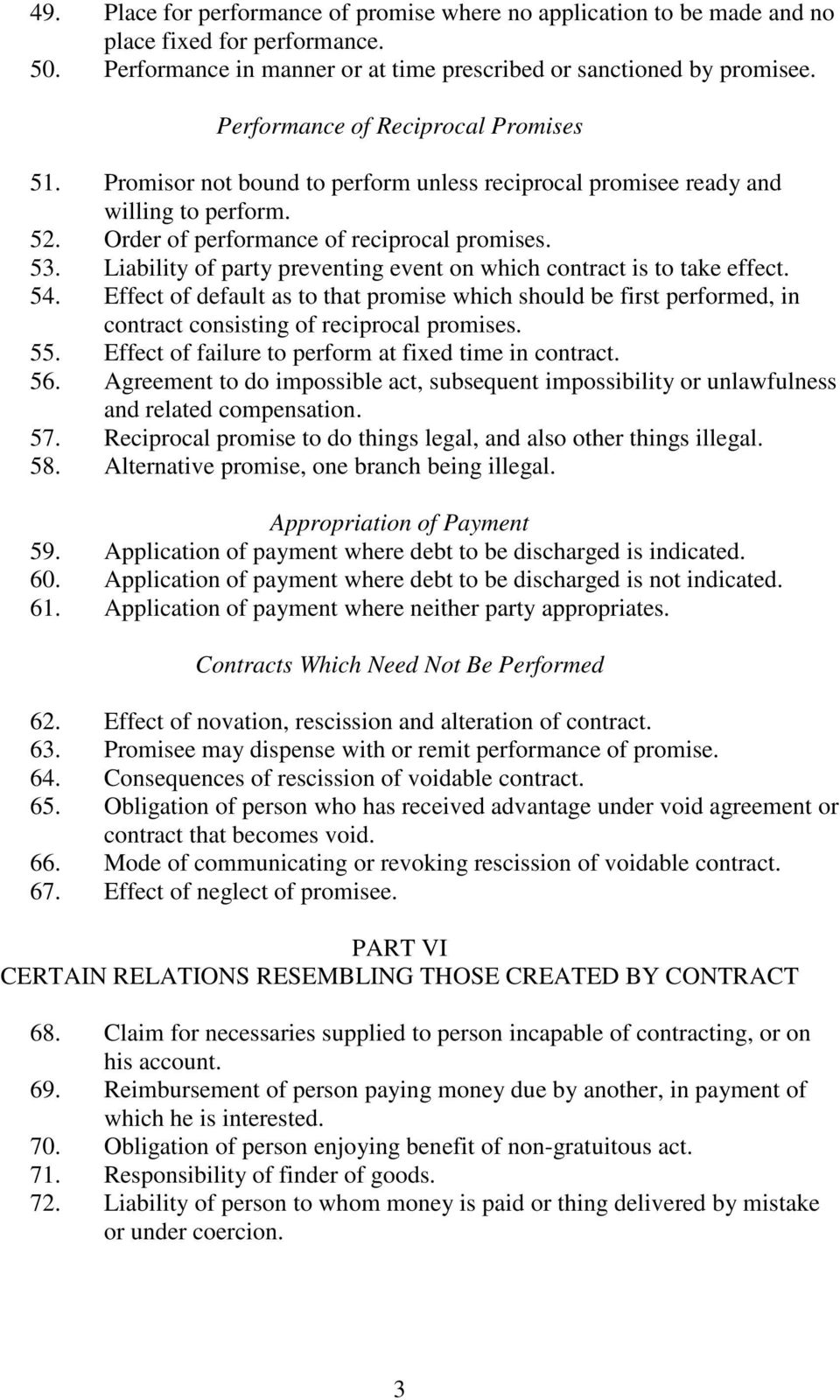 Chapter 345 The Law Of Contract Act Principal Legislation