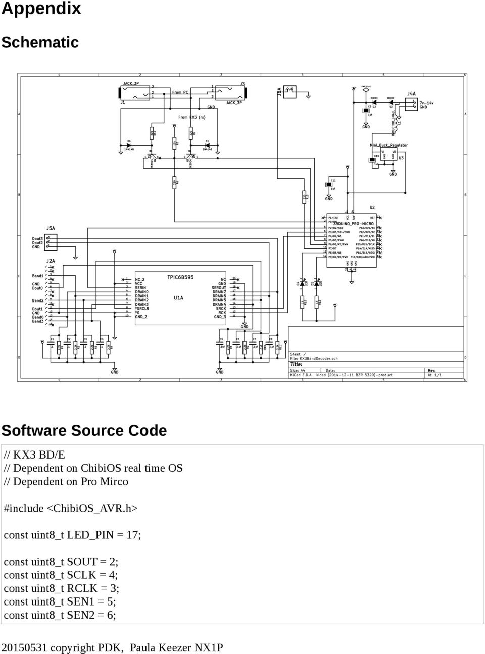 KX3 Band Decoder/Encoder Theory Of Operations - PDF Kx Schematic on