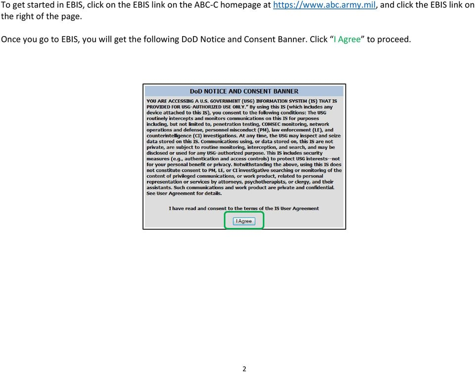 Mil And Click The EBIS Link On Right Of Page