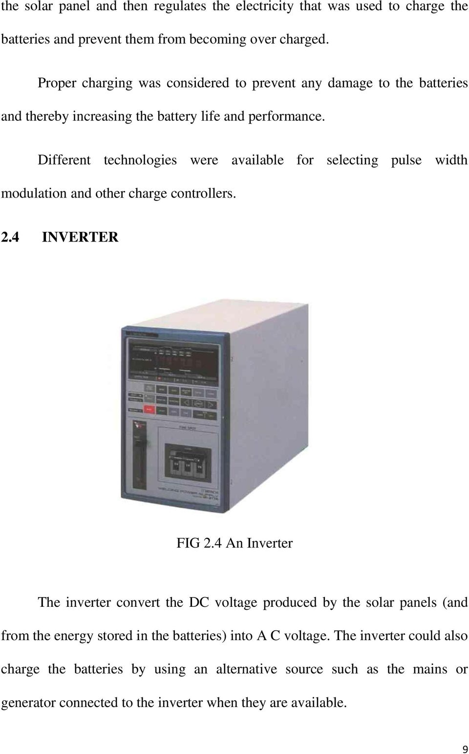 Design And Installation Of 200 Watt Solar Power System Pdf Suoer 2 In 1 Inverter Charger 500 Typer Saa 500w C Different Technologies Were Available For Selecting Pulse Width Modulation Other Charge Controllers 24
