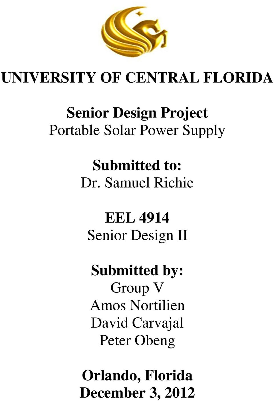 University Of Central Florida Senior Design Project Portable Solar 555 Timer Projects Buck Converter Using Ne555 31 Samuel Richie Eel 4914 Ii Submitted By