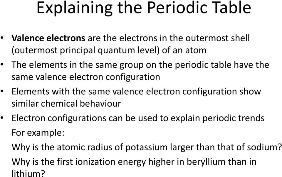 Atomic Structure And The Periodic Table Chapter Pdf