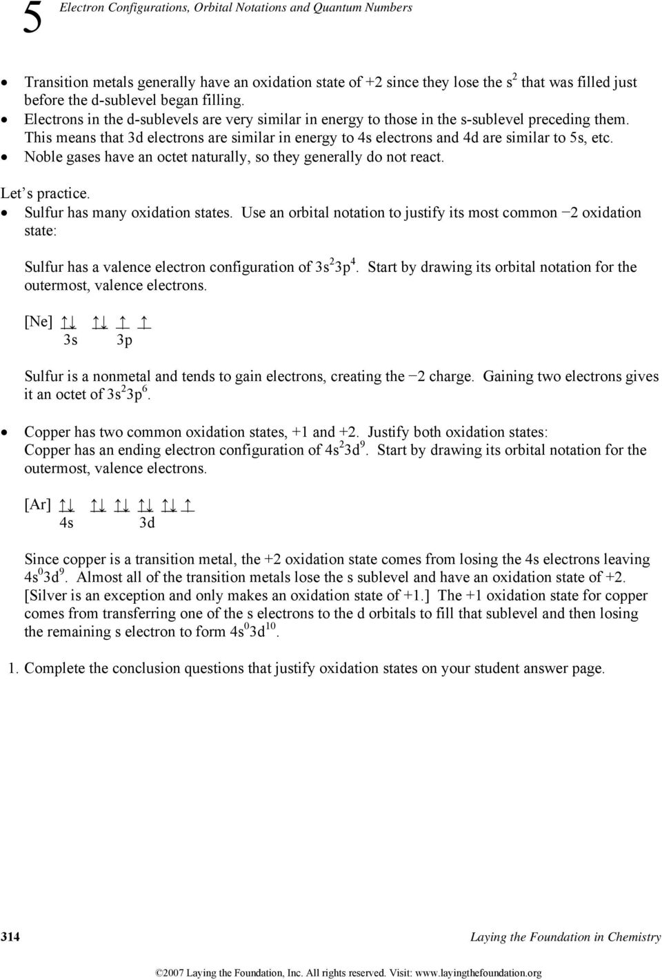 29 Electron Configuration And Orbital Diagram Worksheet