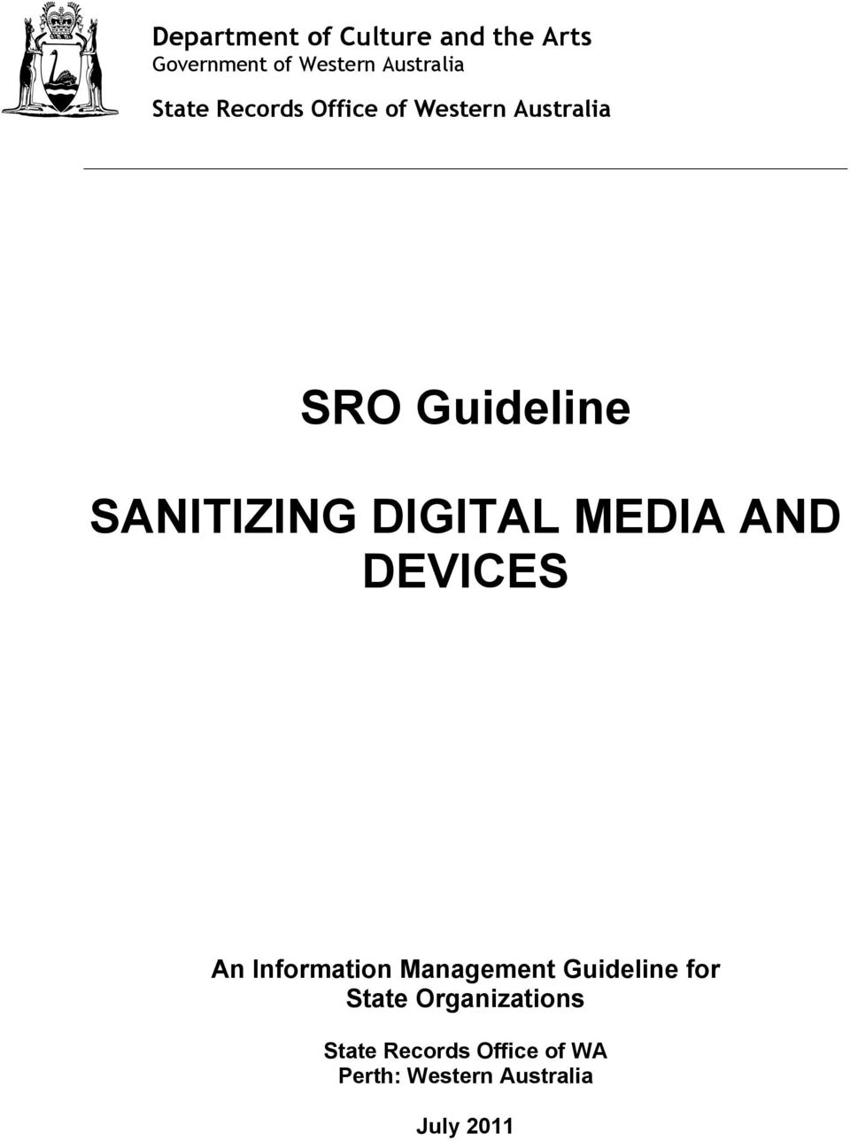 DIGITAL MEDIA AND DEVICES An Information Management Guideline for