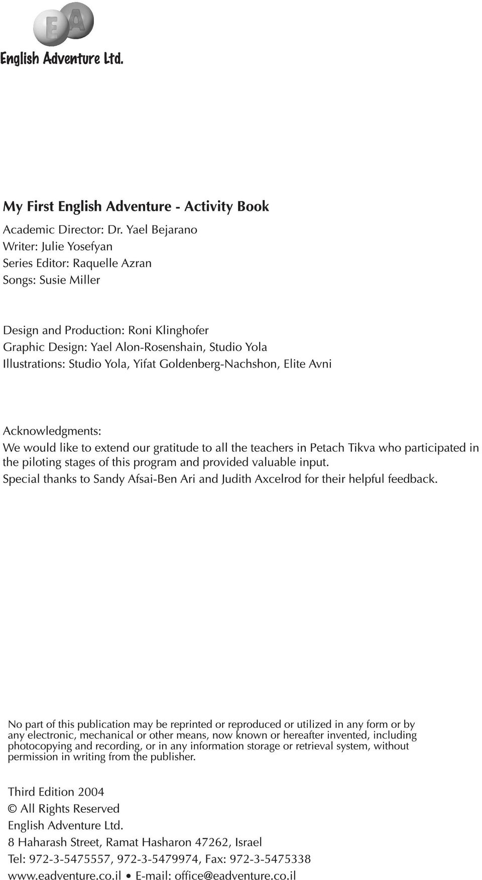 My First English Adventure 2 Teacher Book