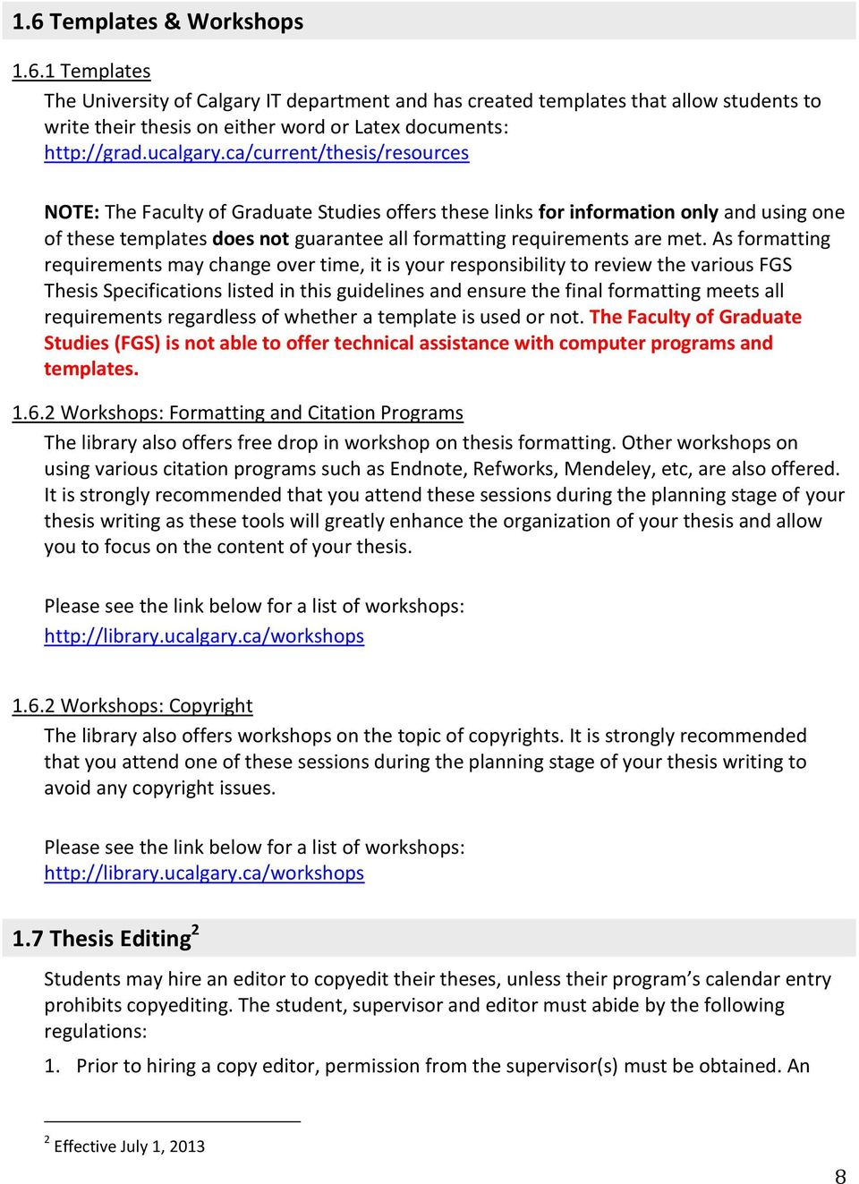 fgs thesis guidelines
