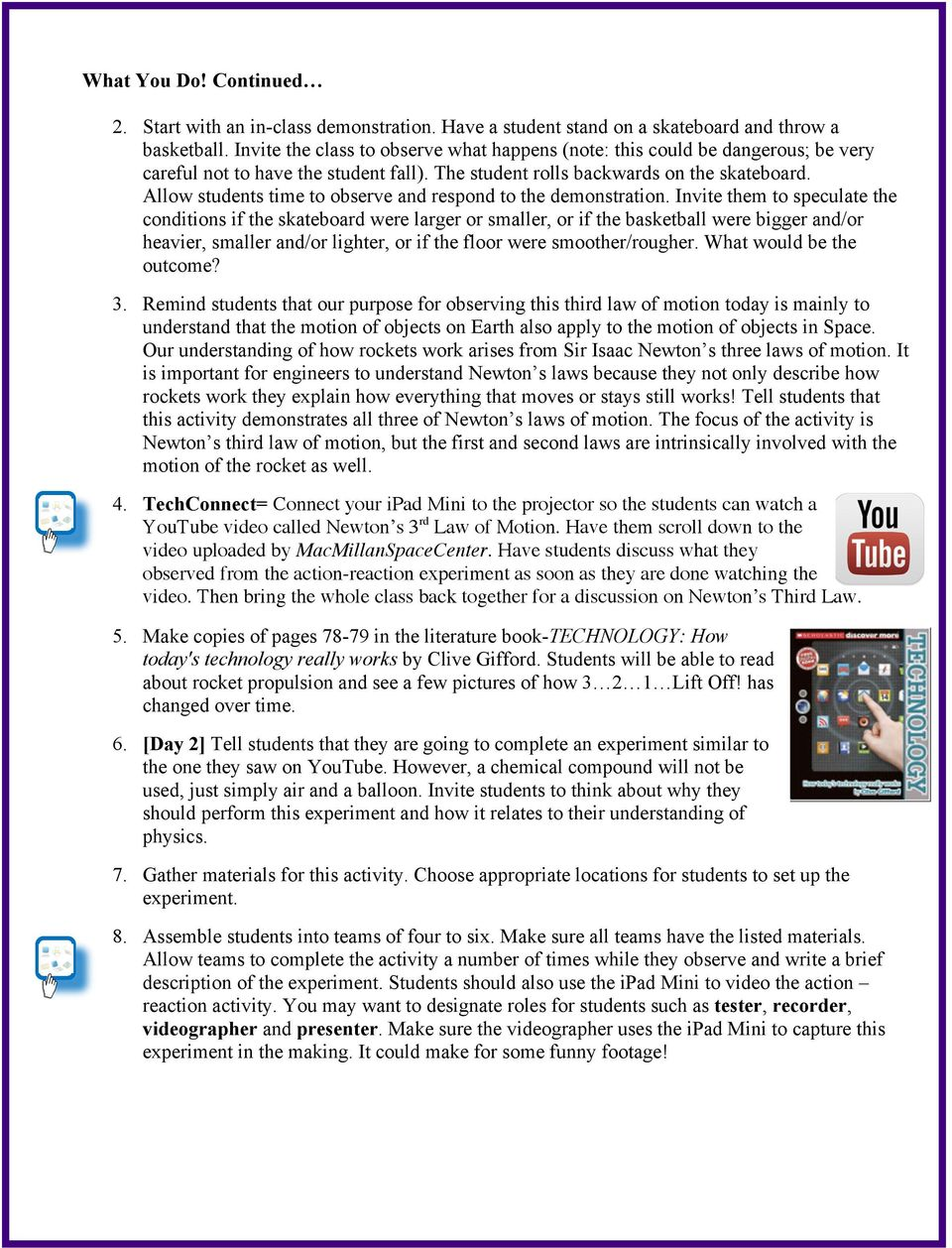 Activity: Newton s Third Law of Motion Action and Reaction - PDF