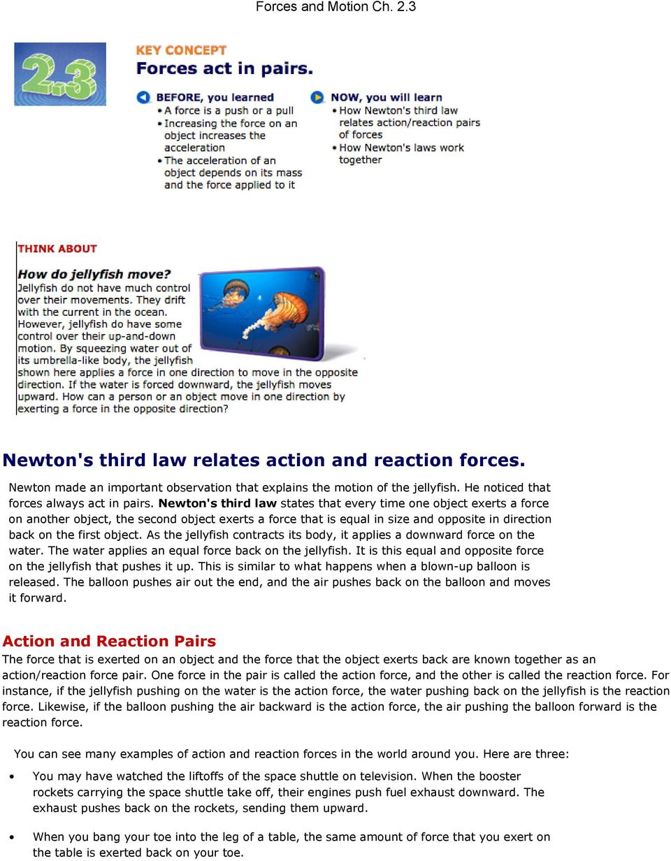 newton s third law relates action and reaction forces pdf