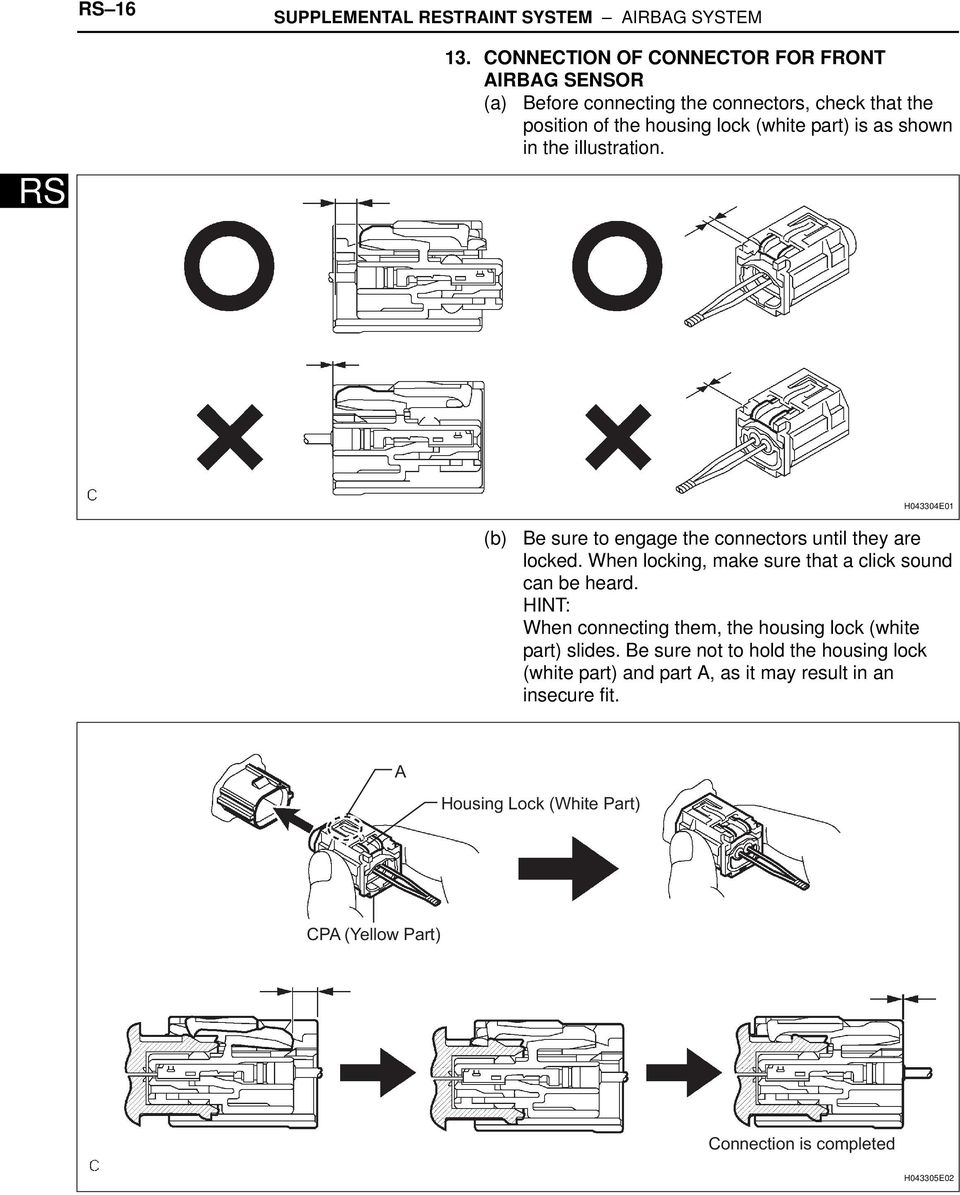 Toyota RAV4 Service Manual: Short in driver side squib circuit