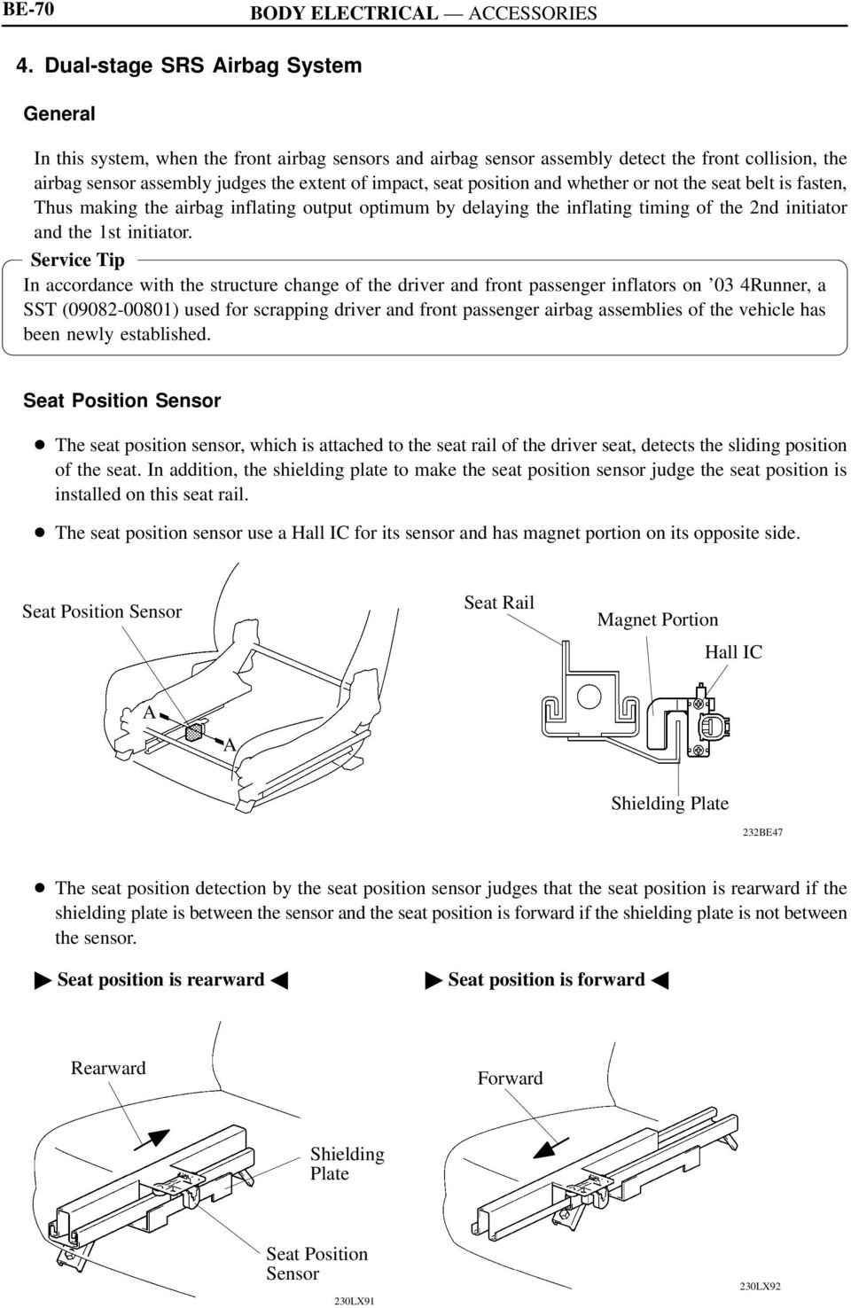Toyota RAV4 Service Manual: Short in front driver side pretensioner squib circuit