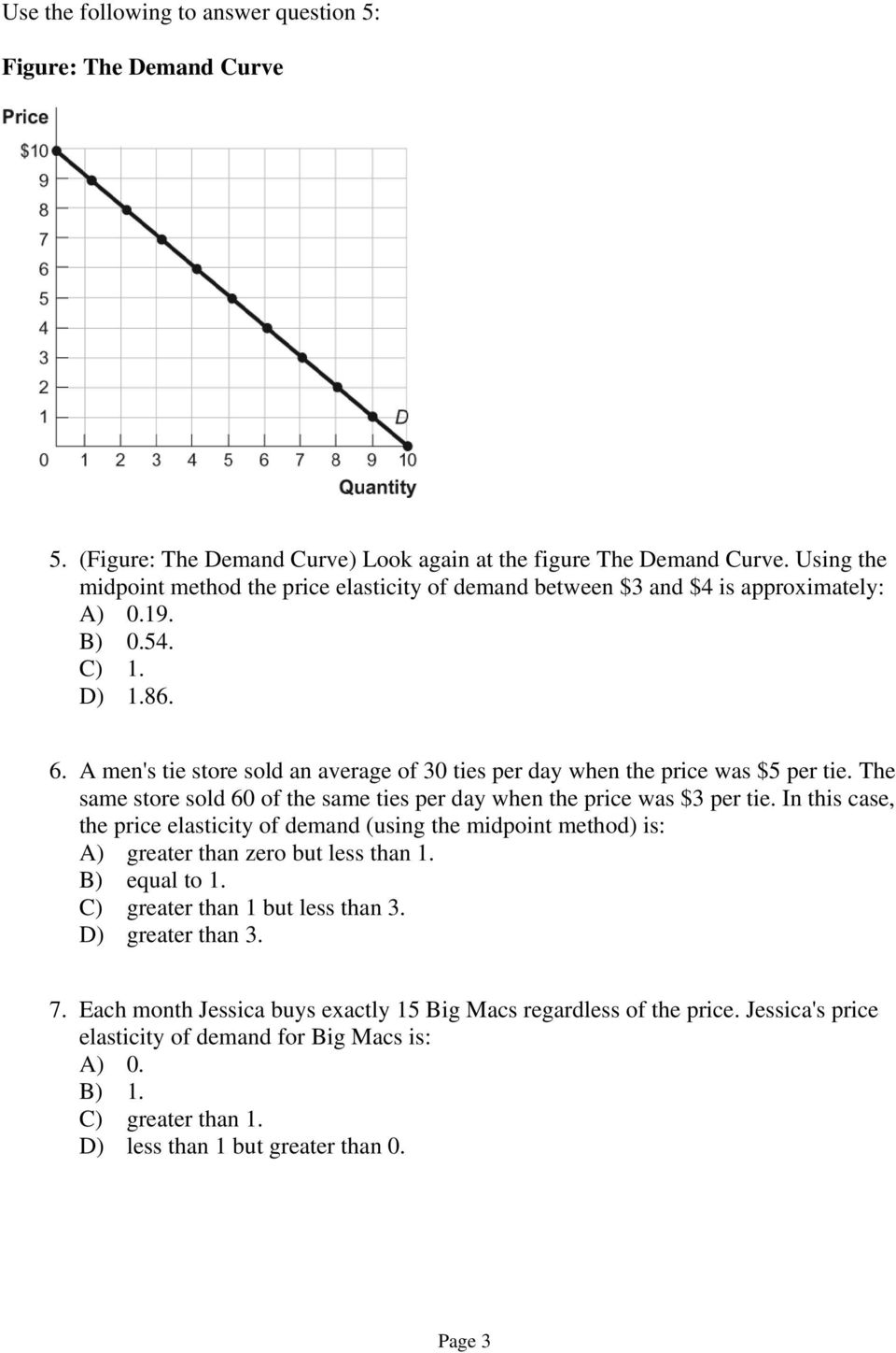Sample Exam Questions Chapter 6 Use The Following To Answer Question 1 Figure The Demand For E Books Pdf Free Download