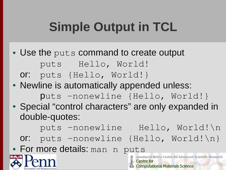 Scripting with TCL, Part 1 - PDF