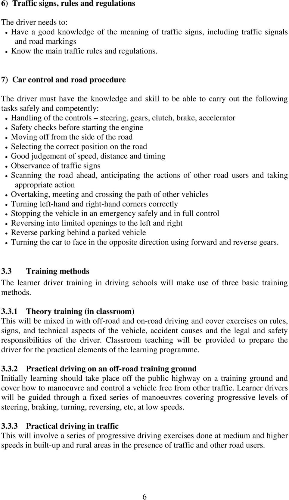ROAD TRAFFIC DEPARTMENT A DRIVER INSTRUCTORS MANUAL FOR THE BAHAMAS