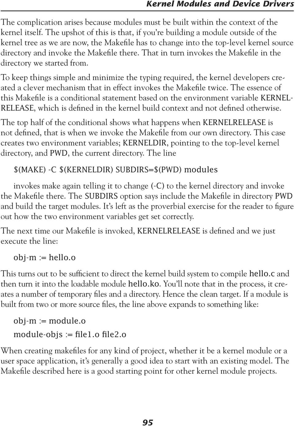 Kernel Modules and Device Drivers - PDF